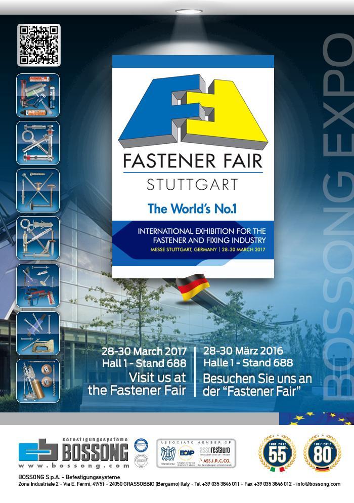 Besuchen Sie uns @ Fastener Fair Stuttgart 2017 Bossong