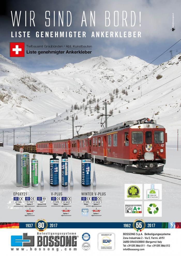 Bossong in der Swiss LISTE GENEHMIGTER ANKERKLEBER