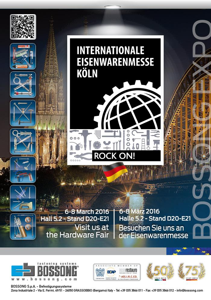 Eisenwarenmesse Köln Bossong 2016